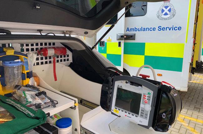 'Cutting Edge' Defibrillators Fitted in Scottish Ambulances